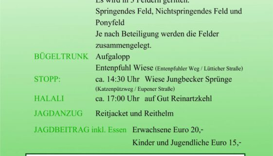 Herbstjagd Reinartzkehl 2019